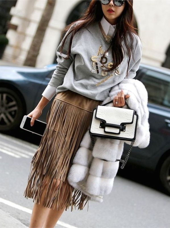 Picture Of Ways To Wear Fringe Skirts Right This Season 14