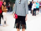 15 Ways To Wear Fringe Skirts Right This Season7