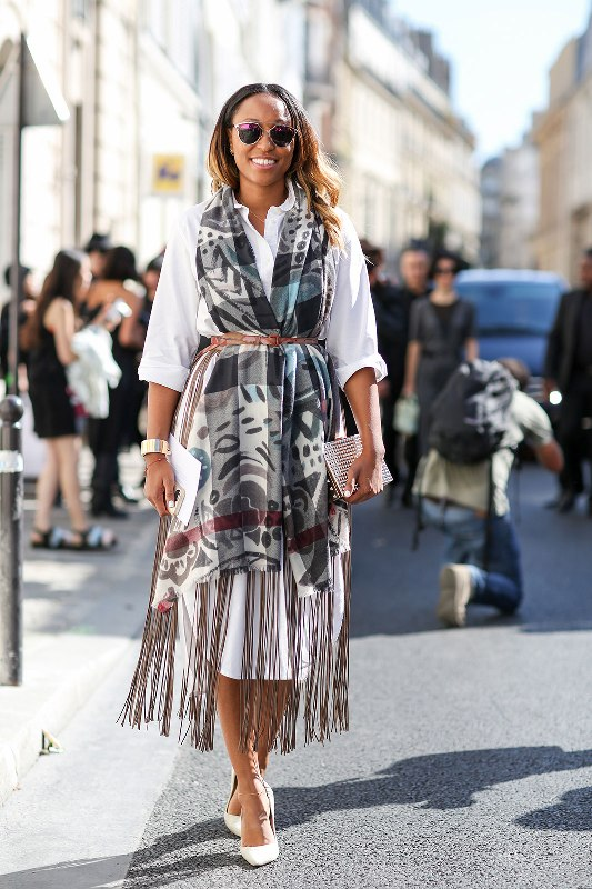 Picture Of chic belted scarf trend to try this fall and winter  13