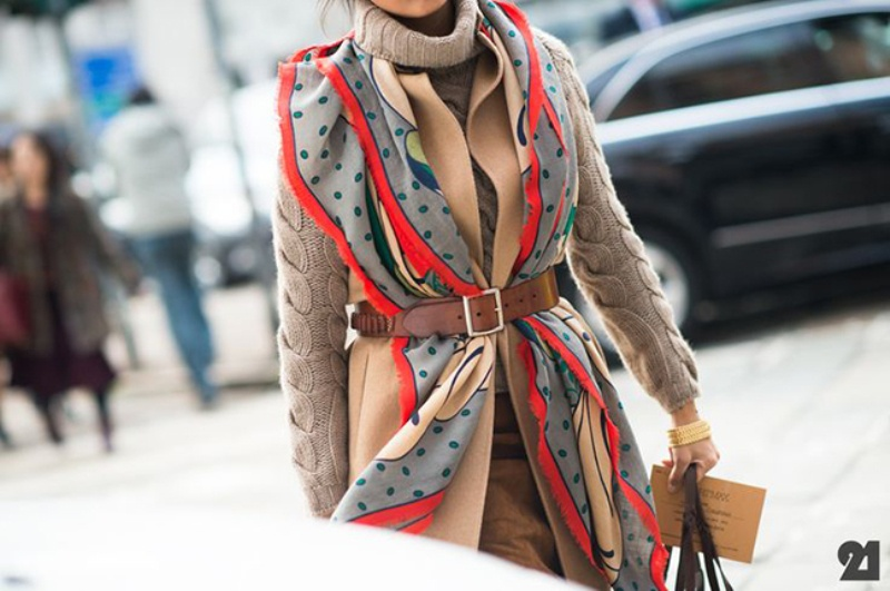Picture Of chic belted scarf trend to try this fall and winter  14