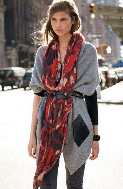 Picture Of chic belted scarf trend to try this fall and winter  3
