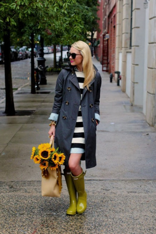 Picture Of chic ways to wear rain boots this fall  1