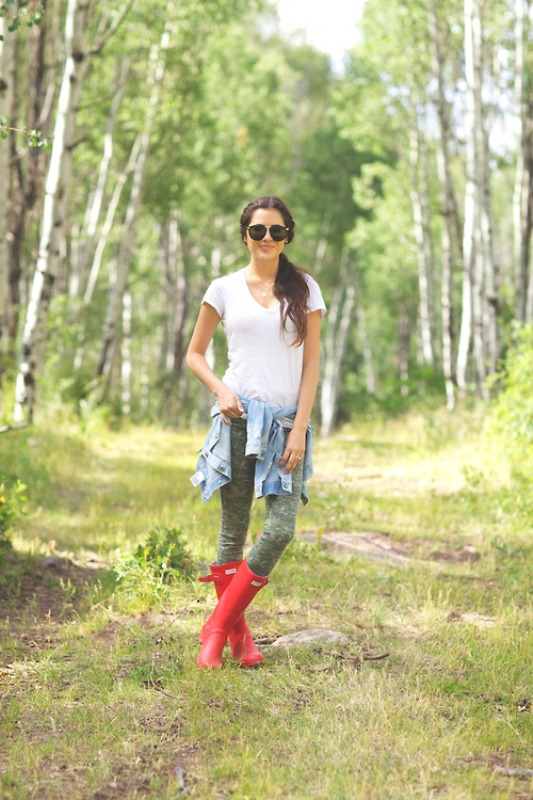 Picture Of chic ways to wear rain boots this fall  10