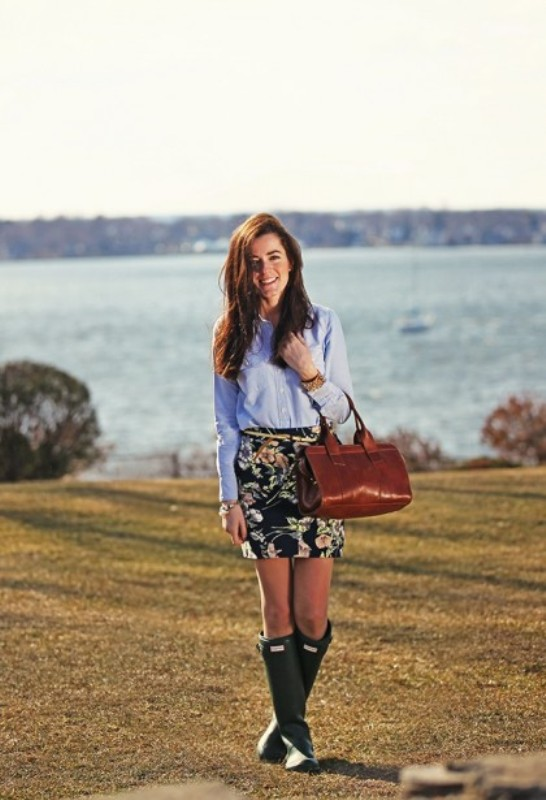 Picture Of chic ways to wear rain boots this fall  11