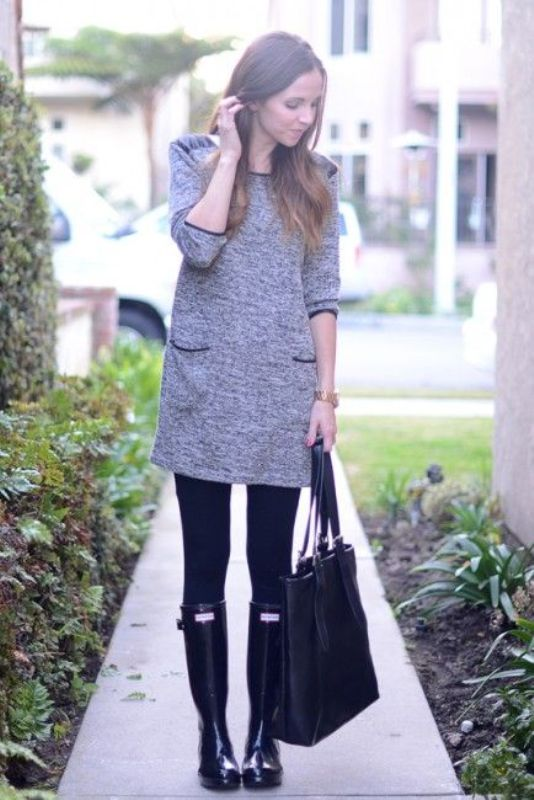 Picture Of chic ways to wear rain boots this fall  13