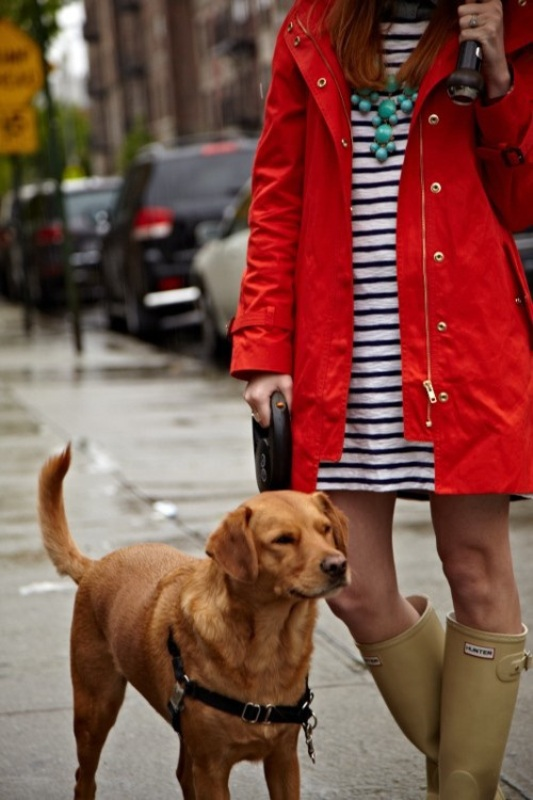 Picture Of chic ways to wear rain boots this fall  15