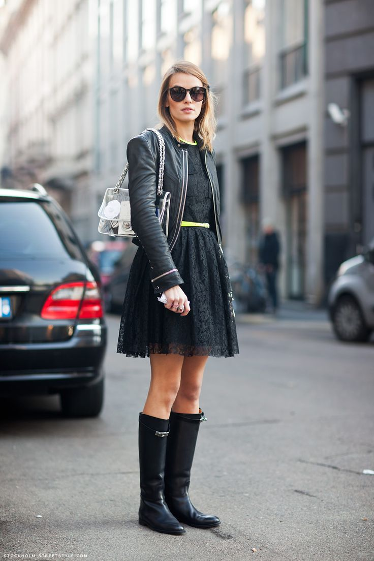 Picture Of chic ways to wear rain boots this fall  2