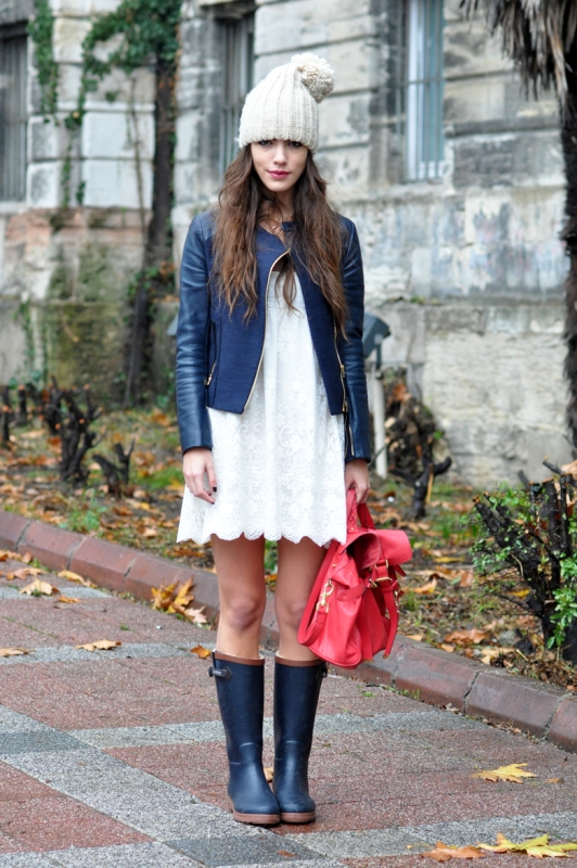 Picture Of chic ways to wear rain boots this fall  4