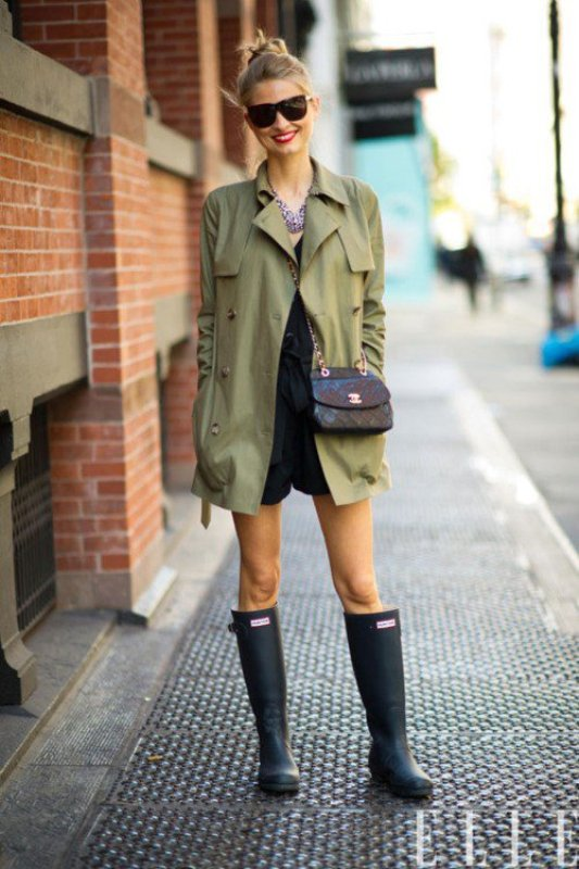 Picture Of chic ways to wear rain boots this fall  5