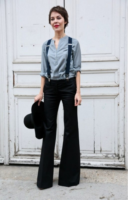 Picture Of cool looks with suspenders to love and recreate now  1