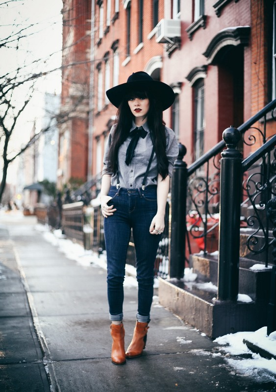 Picture Of cool looks with suspenders to love and recreate now  12