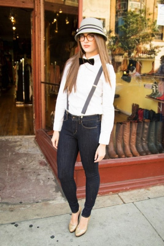 Picture Of cool looks with suspenders to love and recreate now  14