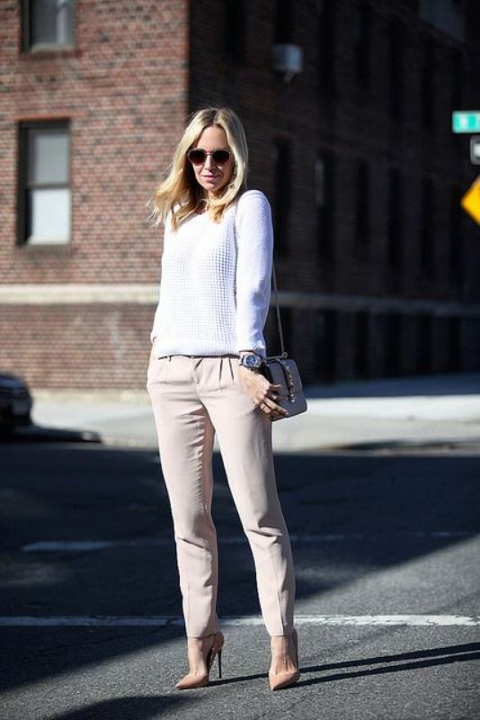 Picture Of cool ways to style a simple sweater for spring  5
