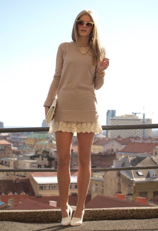 Picture Of cool ways to style a simple sweater for spring  6