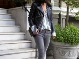 16 Absolutely Cool Outfits With Skinny Grey Jeans This Fall12
