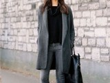 16 Absolutely Cool Outfits With Skinny Grey Jeans This Fall15