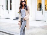 16 Absolutely Cool Outfits With Skinny Grey Jeans This Fall4