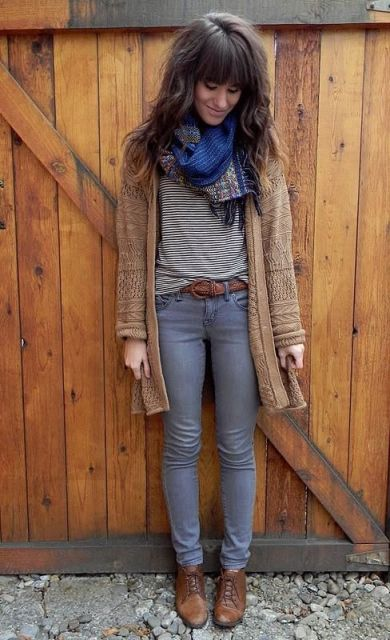 Picture Of Absolutely Cool Outfits With Skinny Grey Jeans This Fall 6