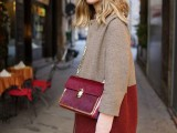 16 Fall Outfits With Two-Tone Coats 11