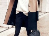 16 Fall Outfits With Two-Tone Coats 12
