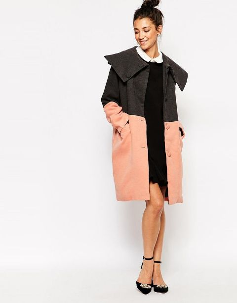 Picture Of Fall Outfits With Two Tone Coats 14