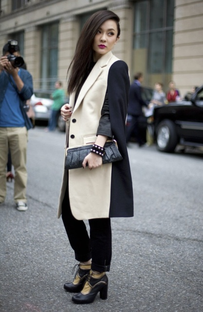 Fall Outfits With Two Color Coats