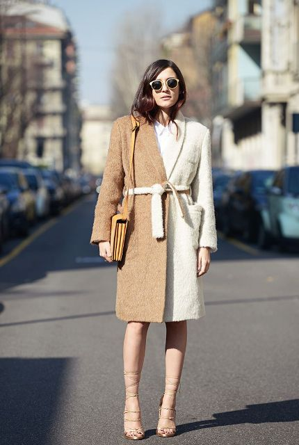 Picture Of Fall Outfits With Two Tone Coats 8