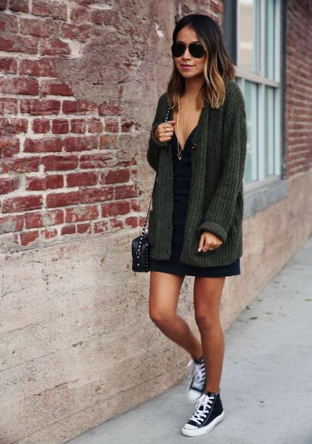 Of Feminine Long Cardigan And Dress Combinations For Fall 11