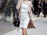 16 Feminine Long Cardigan And Dress Combinations For Fall2