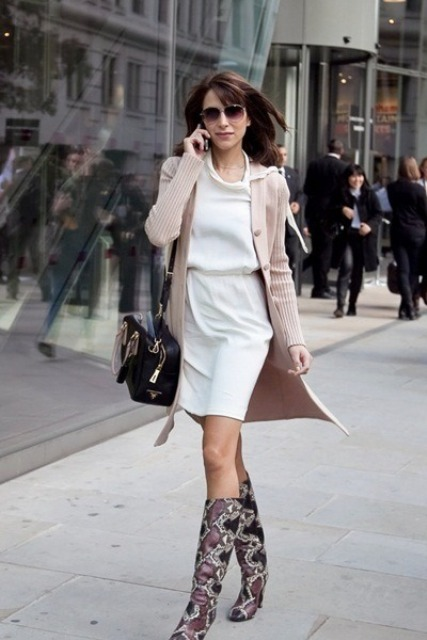 Of Feminine Long Cardigan And Dress Combinations For Fall 2