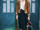 16 Feminine Pleated Midi Skirt Outfits For Fall And Winter 14