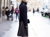 16 Feminine Pleated Midi Skirt Outfits For Fall And Winter 16