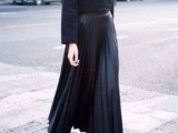 16 Feminine Pleated Midi Skirt Outfits For Fall And Winter 2