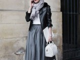 16 Feminine Pleated Midi Skirt Outfits For Fall And Winter 3