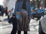16 Feminine Pleated Midi Skirt Outfits For Fall And Winter 6