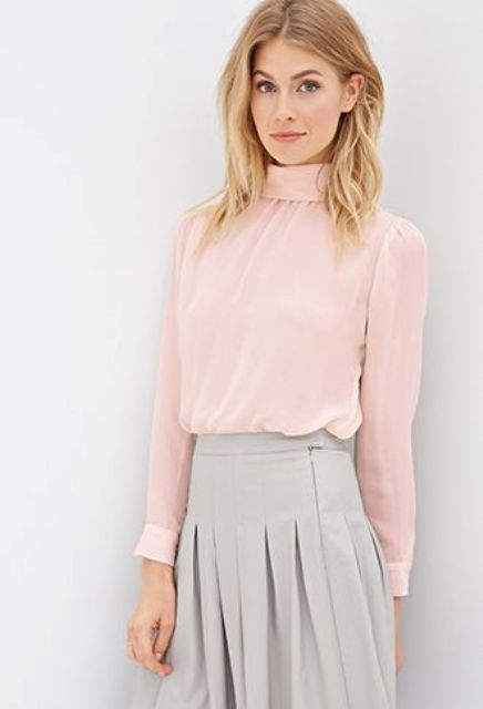 Picture Of High Neck Blouse Ideas To Look Trendy 13