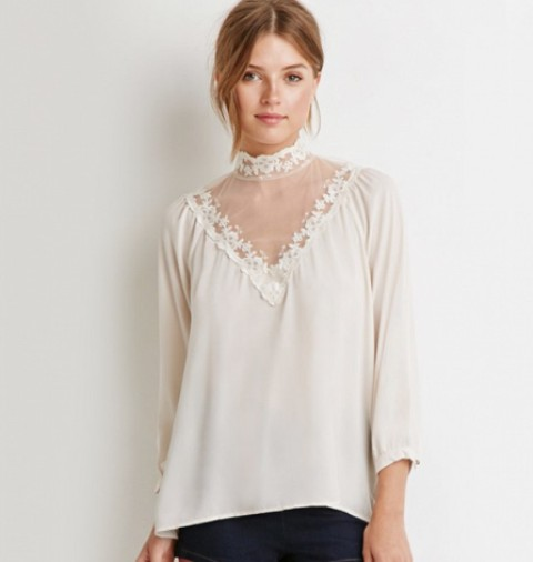Picture Of High Neck Blouse Ideas To Look Trendy 16