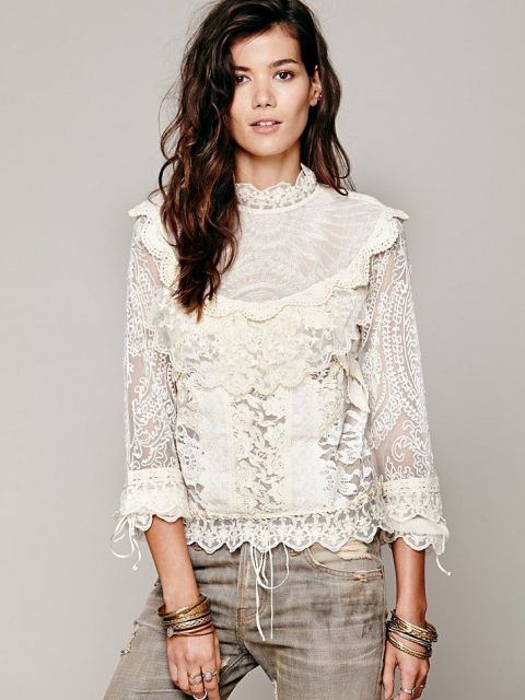 15 High Neck Blouse Ideas To Look Trendy