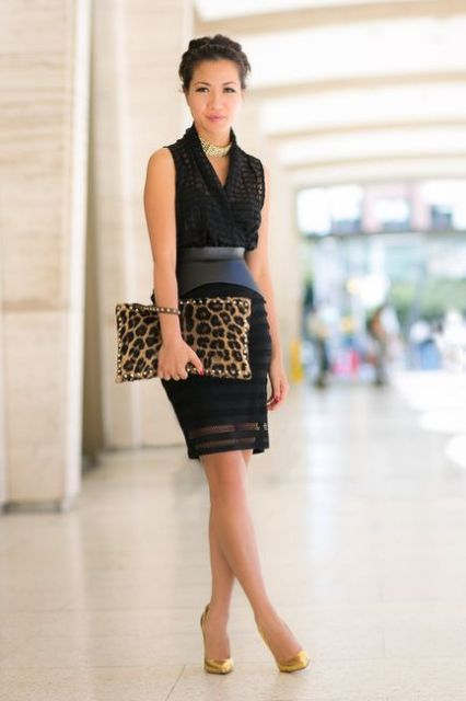Picture Of Office Bright Women Outfits With Animal Prints 10
