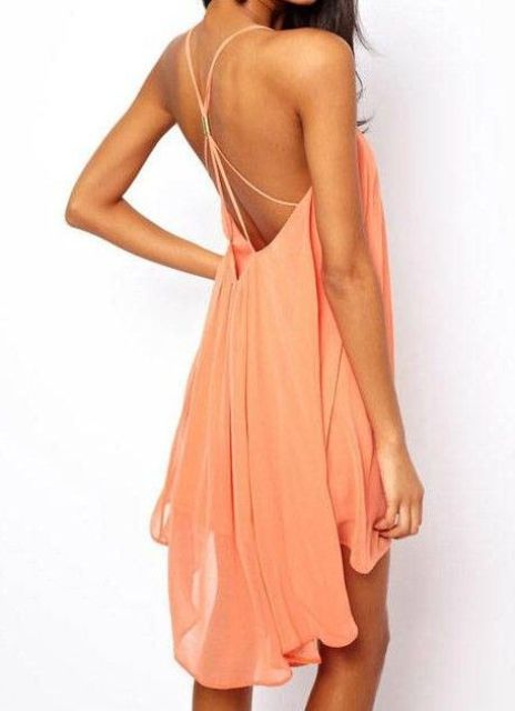 Spaghetti Strap Backless Dresses For This Summer