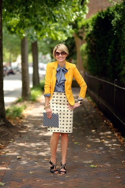 16 Ways To Wear Polka Dot Clothes At Office