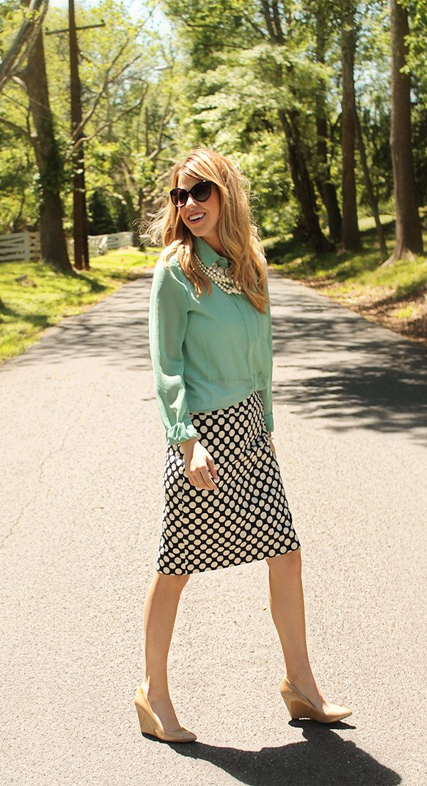 Picture Of Ways To Wear Polka Dot Clothing At Office 11