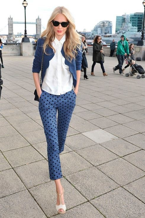 Picture Of Ways To Wear Polka Dot Clothing At Office 3