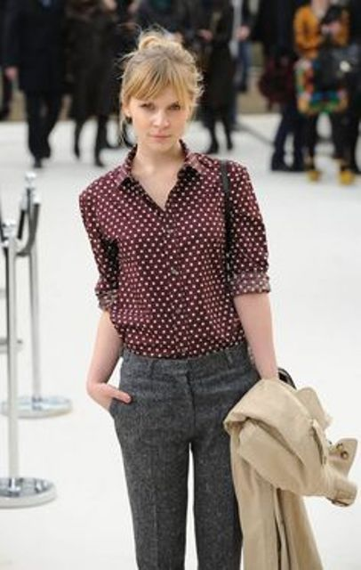 Picture Of Ways To Wear Polka Dot Clothing At Office 4
