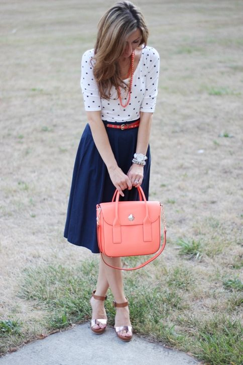 Picture Of Ways To Wear Polka Dot Clothing At Office 5