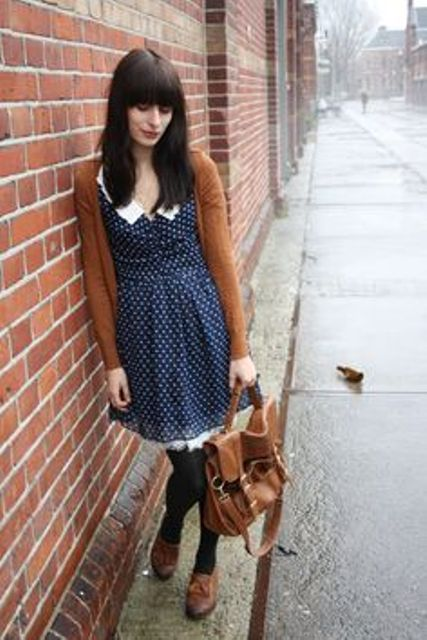 Picture Of Ways To Wear Polka Dot Clothing At Office 7