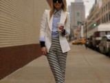16 Work Outfits With Stripes For Ladies15