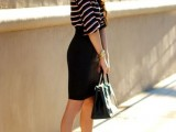 16 Work Outfits With Stripes For Ladies6