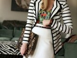 16 Work Outfits With Stripes For Ladies7