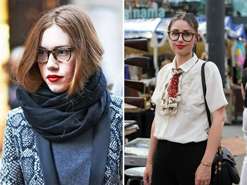 Picture Of stunning ways to wear glasses now  4